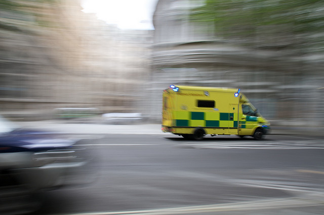 Ambulance in motion by Benjamin Ellis